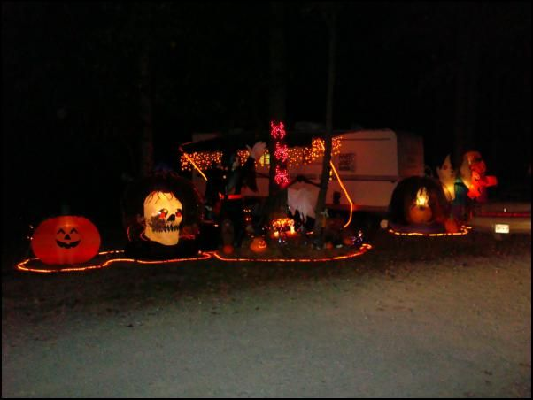 we checked into the drummer boy camping resort on monday of this week this is a large campground with over 400 rv sites and a number of rental units but - Halloween Rental Decorations