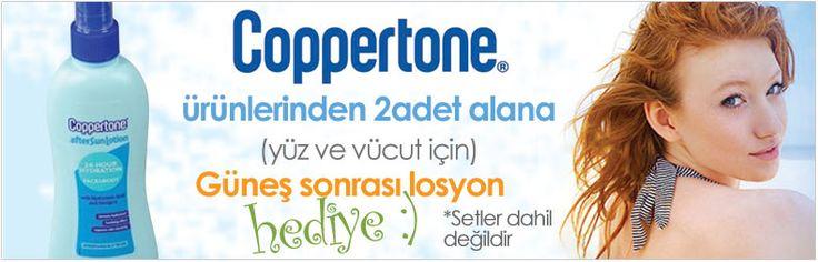 Cilt tipinize uygun, yaz kış kullanabileceğiniz kaliteli güneş kremleri, losyonları Coppertone markasında dermoeczanem.com'da