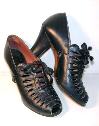 Lilley & Skinner shoes, November 1937....My grandma wore ones just like this.  I thought they were aweful.