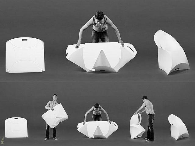 Flux chair - Douwe Jacobs & Tom Schouten - 77 chairs in 1 meter! http://www.designaanbiedingen.nl/da/flux_chair_flux_WEProd.htm