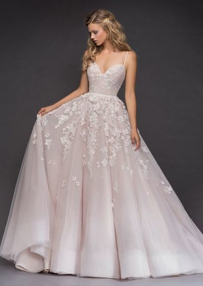Incredibly sexy luxury evening appliques Wedding Dress ,Paige spaghetti bridal dress