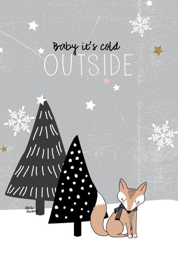 """[Freebies] Des fonds d'écran """"Fox & Tree"""" pour passer l'hiver                                                                                                                                                                                 Plus"""