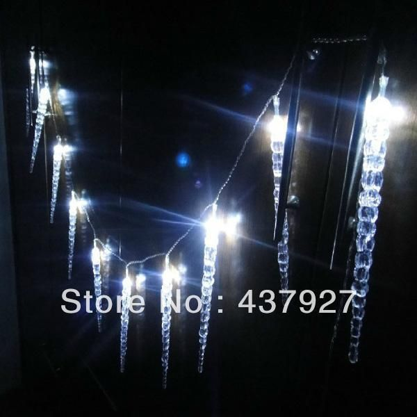 choosing wholesale wholesale 10m 100 led clear whiteblue dripping icicle shape christmas lights - White Icicle Christmas Lights