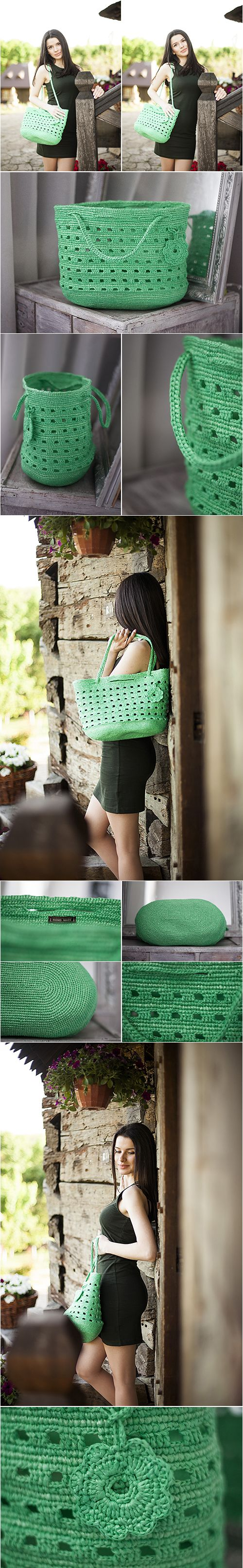 plarn bag, upcycling, upcycled bags, plarn tote, green bag