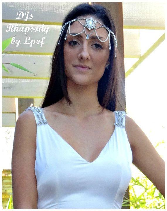Wedding Headpiece Bridal Headpiece Head Piece Boho Wedding Beach Wedding Hair Jewelry Headpiece Head Jewellery Headdress  - DJs Rhapsody