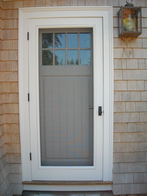 We like the trim on this and this illustrates how we'd like the screen/storm door incorporated (also the color combo we'll be using).