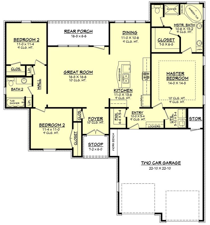 plan 430 66 houseplanscom 1600 sq ft with full or partial basement - Open House Plans