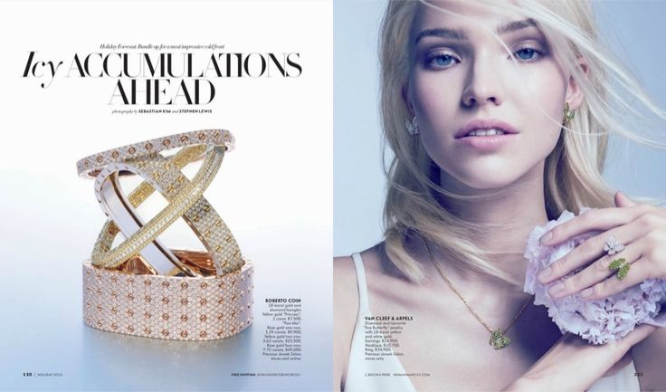 Sasha Luss stars in Neiman Marcus' holiday 2015 issue of The Book