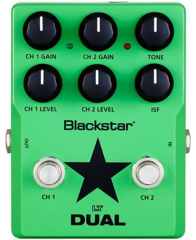 Blackstar LT DUAL is the ultimate in distortion pedal versatility. The LT DUAL offer two distinct distortion channels. Channel 1 lets you move from clean, to boost to overdrive. Channel 2 then takes you from super crunch right up to screaming lead. The addition of Blackstar's ISF (Infinite Shape Feature) delivers broad tonal respsone from the UK to the USA and anywhere in between. A must have for any pedalboard.