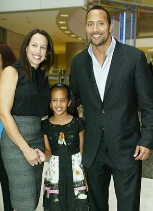 dwayne johnson's family photo gallery | Dwayne Johnson with his (now) ex-wife and daughter