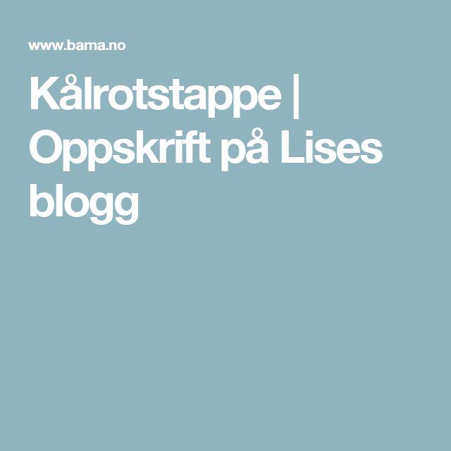 Kålrotstappe | Oppskrift på Lises blogg