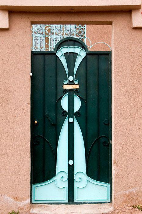 Moroccan Doors, Steel door from Ouarzazate by Nadler Photography via nadlerphotography.com