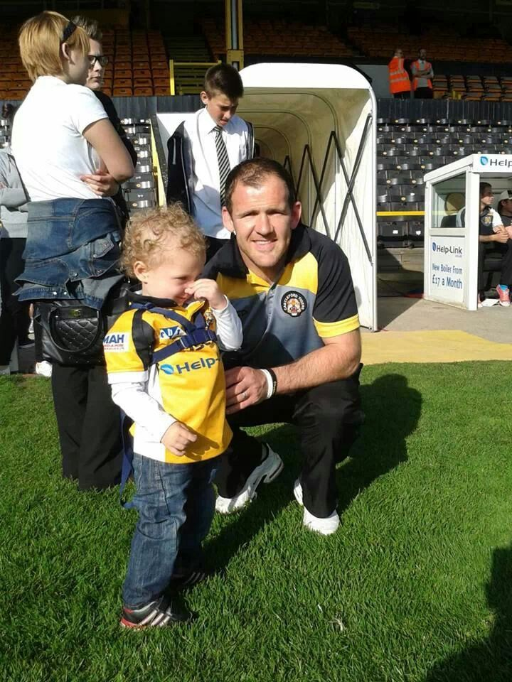 My little boy with danny orr Castleford tigers