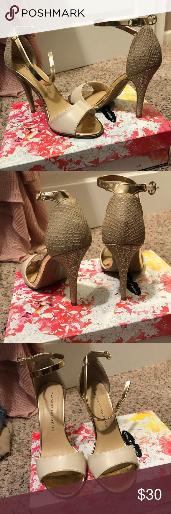 Chinese Laundry heels Gold Chinese Laundry sandals Chinese Laundry Shoes Sandals
