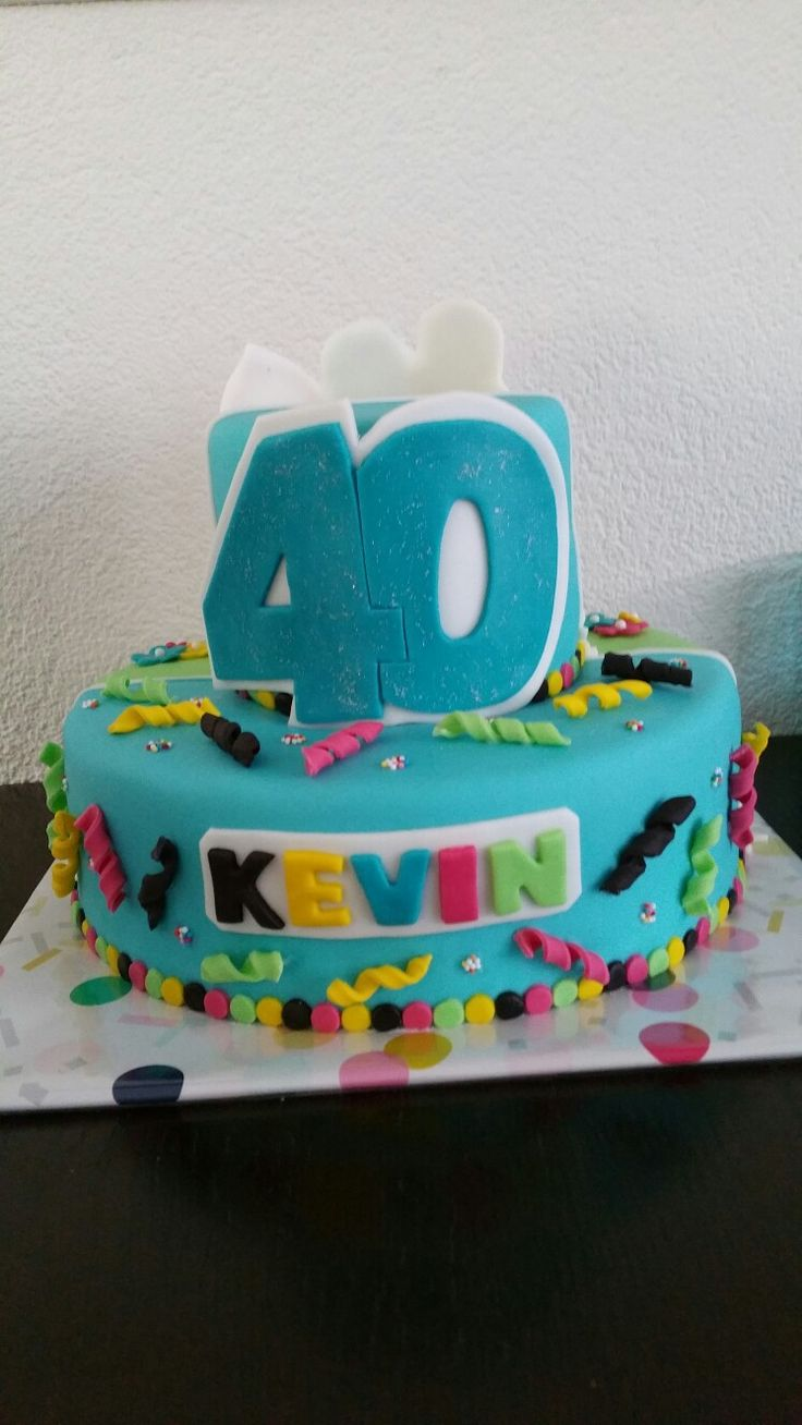 Happy 40th cake