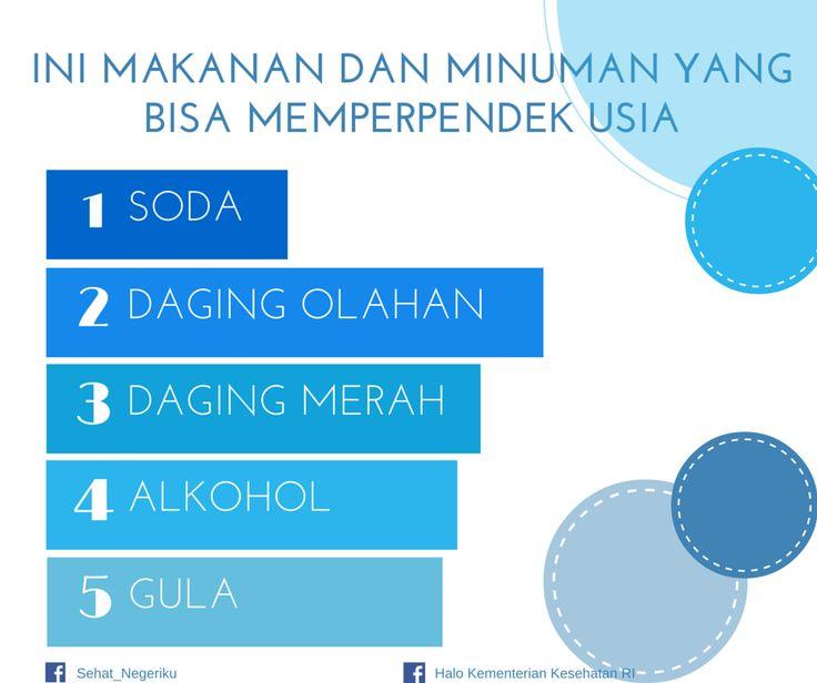Ini Makanan dan Minuman yang bisa Memperpendek Usia ~ Infografis Kesehatan