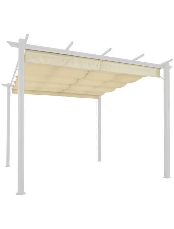 Ersatzdach Fur Pavillon Aluminium Bxl 300x400 Cm Sandfarben