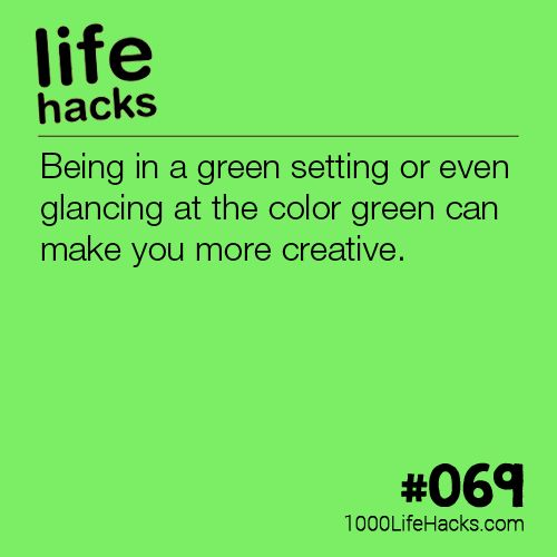 Yeah but we see green all the time. Trees. Grass. Flowers. Why isn't everyone ...