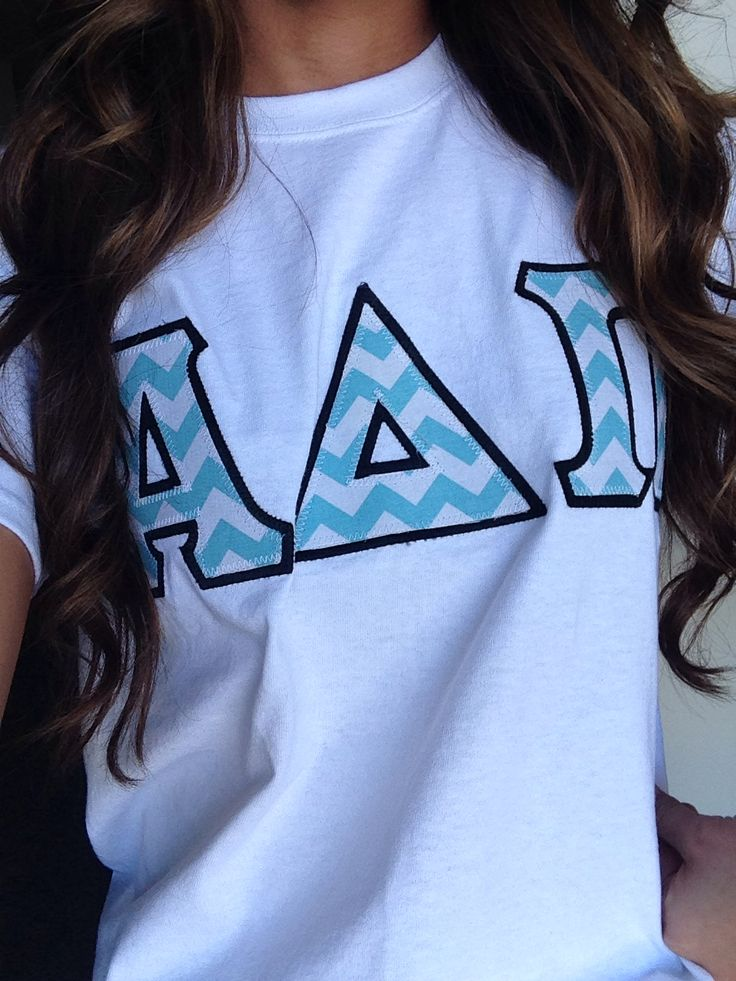 Chevron letter shirt