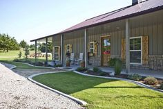 David's 42 x 60 Metal Building Home w/ Side Porches (HQ Pictures)   Metal Building Homes