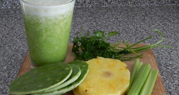 Jugo verde de nopal súper adelgazante | Recetas para adelgazar