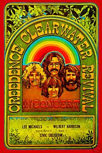 Credence Clearwater Revival CCR~ classic heavy metal psychedelic  rock music poster  ☮~ღ~*~*✿⊱  レ o √ 乇 !! ~