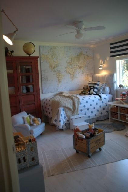 ideas for Charlie's room...need that red piece!! eclectic kids by Splendid Willow