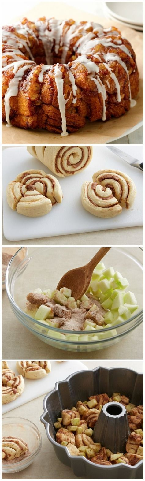 Going to go apple picking soon? Save them to make this Apple-Cinnamon Monkey Bread made with only 5 ingredients. Pillsbury cinnamon rolls, apple and cinnamon combine to make the perfect breakfast and brunch!