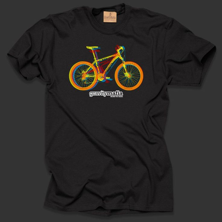 Mountain bike t shirt 3d bikes black gifts for cyclists for Bike and cycle shoppe shirt