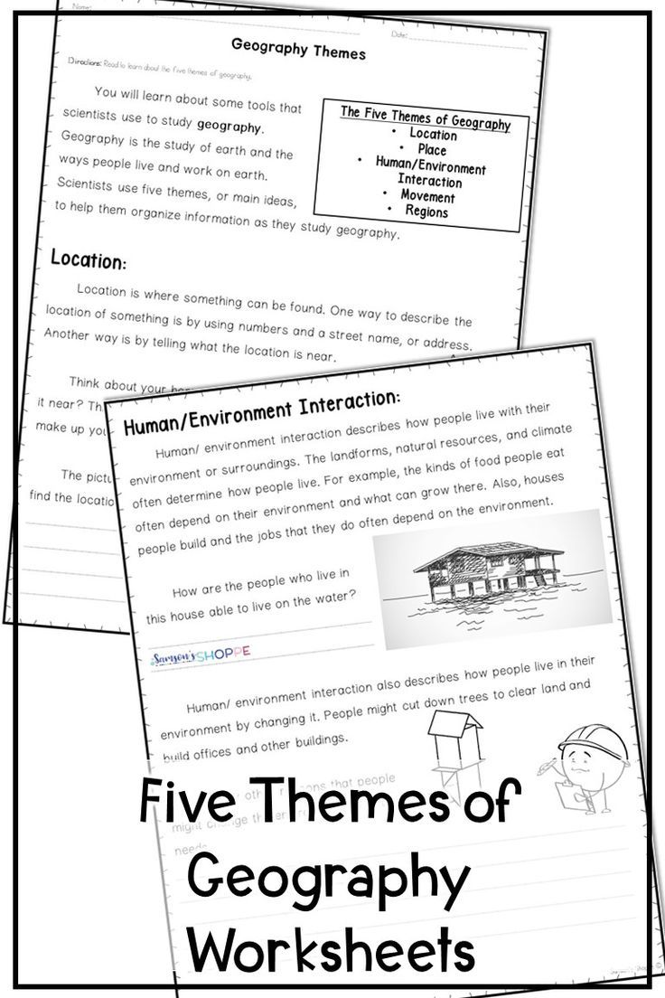 5 Themes Of Geography Reading And Assessment Geography Worksheets Five Themes Of Geography Geography Lessons