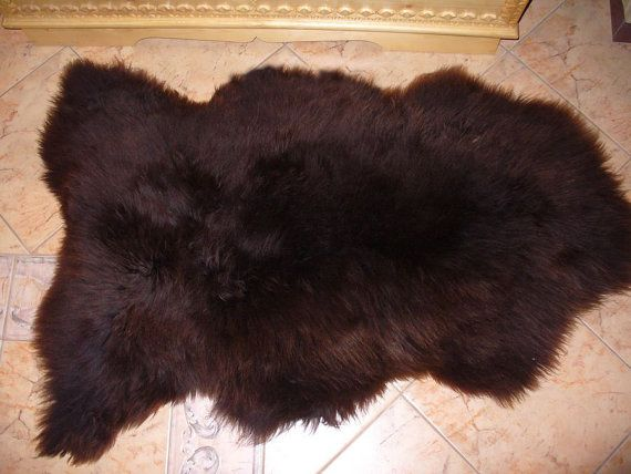 BiG SHEEPSKIN BROWN Throw Genuine leather by TrendingSlippers, $49.00