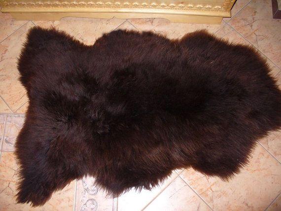 BiG SHEEPSKIN BROWN Throw Genuine leather by TrendingSlippers, $59.99