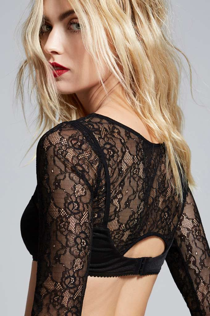 Love, Courtney by Nasty Gal Burn Black Lace Top - Clothes | Cropped | Lingerie Accessories | Tops | Lingerie