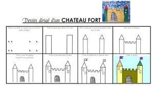 dessin dirigé d'un château fort