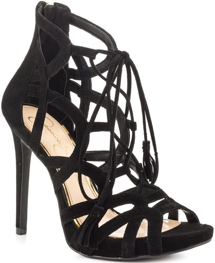 Jessica Simpson 'Racine' Lace-Up Cage Sandals