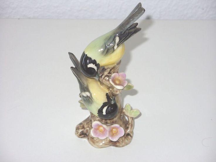Schöne Figur Porzellan Göbel Vögel Vogel Tier Meise