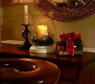 14 hurricane with luminara flameless candle