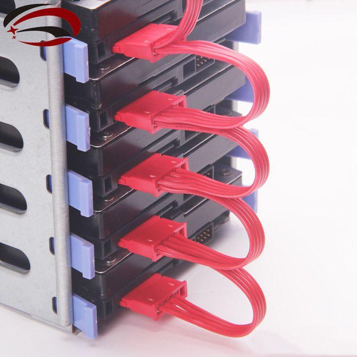 Cheap Pc bricolaje informático 4 Pin IDE Molex 1 a 5 15 Pin SATA divisor de disco duro Cable de alimentación 18AWG rojo, Compro Calidad   directamente de los surtidores de China:     100% a estrenar         Tipo: IDE 1 a 5 SATA Cable divisor de potencia         Longitud cerca de 20 cm + 10 cm * 4
