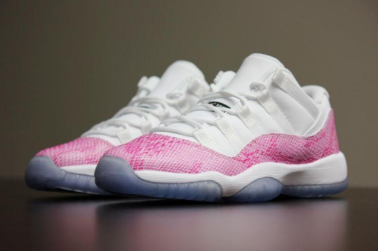 Jordan Retro 11 Pink Snakeskin