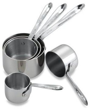 All-Clad Measuring Cups, Set of 5 - traditional - Measuring Cups And Spoons - Bed Bath & Beyond