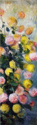 MONET, Dahlias 2, 1883 - I find it stunning how a lovely piece of art can bring peace and serenity in its beauty.