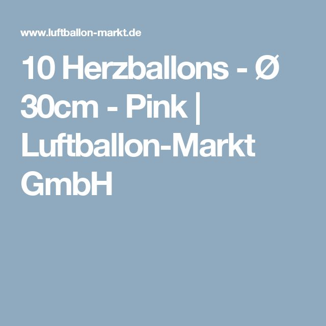 10 Herzballons - Ø 30cm - Pink   Luftballon-Markt GmbH