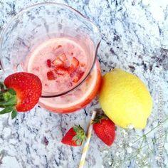 Limonada de fresas casera con Thermomix