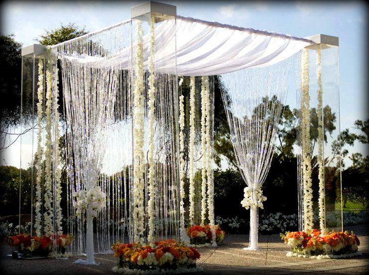 Acrylic,Lucite,Plexiglass Wedding Canopy,Chuppah Rentals