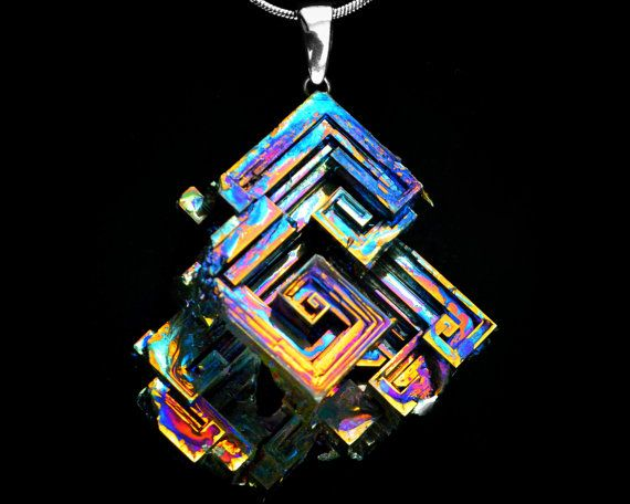 Popular Fractal Whirlpool Iridescent Bismuth Metal Crystal by Element