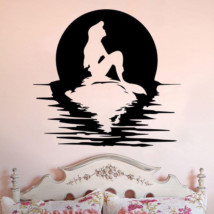 Ariel Full Moon Silhouette Little Mermaid Inspired Vinyl ...