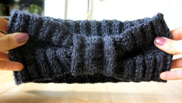 Weekend DIY: Knitting Projects | Bow Headband