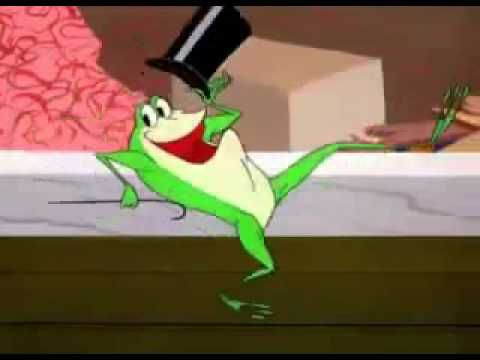 "Michigan J. Frog singing  ""Hello My Baby"" - from his first cartoon appearance on One Froggy Evening cartoon from 1955  -- Warner Brothers Merrie Melodies"
