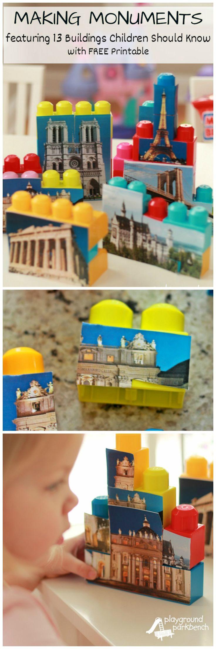 Making Monuments - A-Z Indoor Activities for Preschoolers