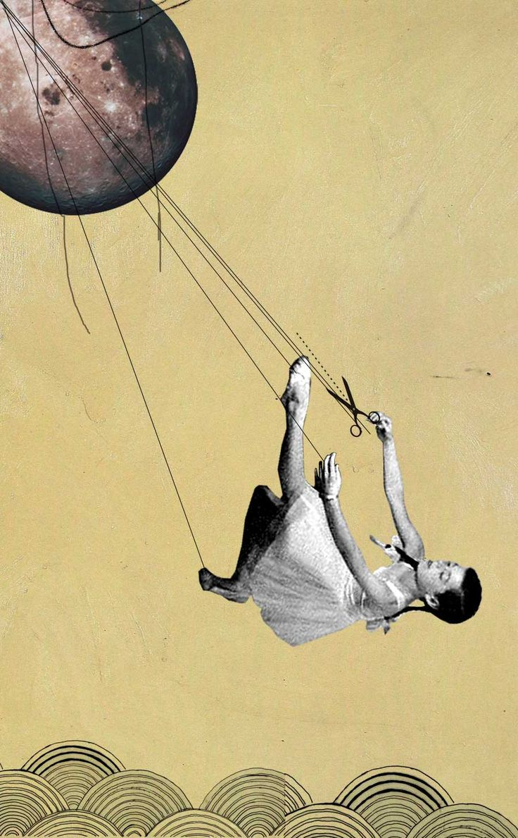 Rhed Fawell The Gravitational Pull.  Collage